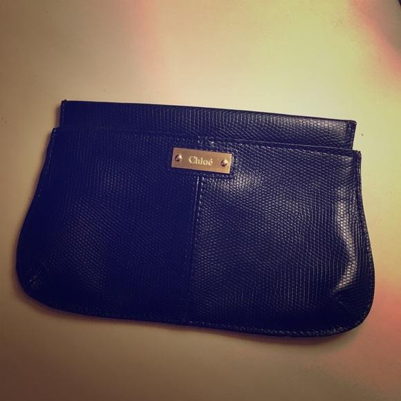 ddc76f0566d Chloe Bags | Snake Print Black Magnetic Makeup Bag | Poshmark